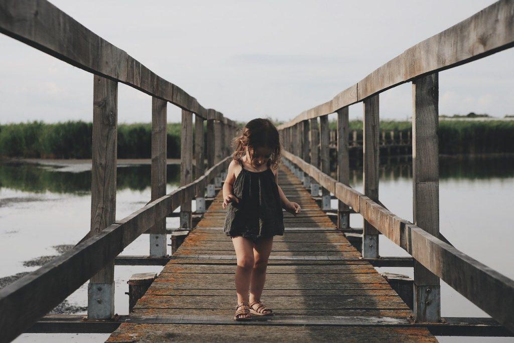 kid on dock